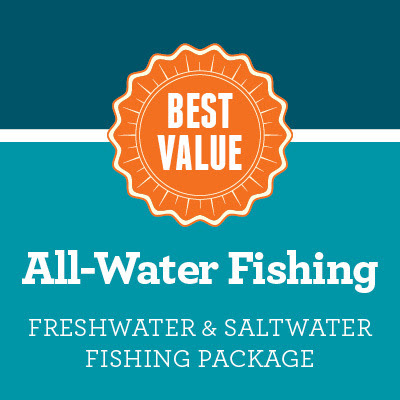 All-Water Fishing License Package