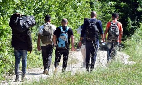 Migrants near Bosanska Krupa, in northern Bosnia