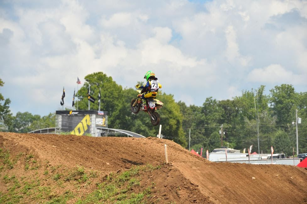 Mason Raynor proved he's an up-and-coming star not only in GNCC Racing, but also in motocross with atop-twenty finish in the 51cc (7-8) Limited class.