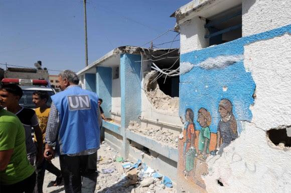 La escuela de Jabalia en Gaza sufrio los efectos del conflicto en Gaza Foto: UNRWA Archivos / Shareef Sarhan.