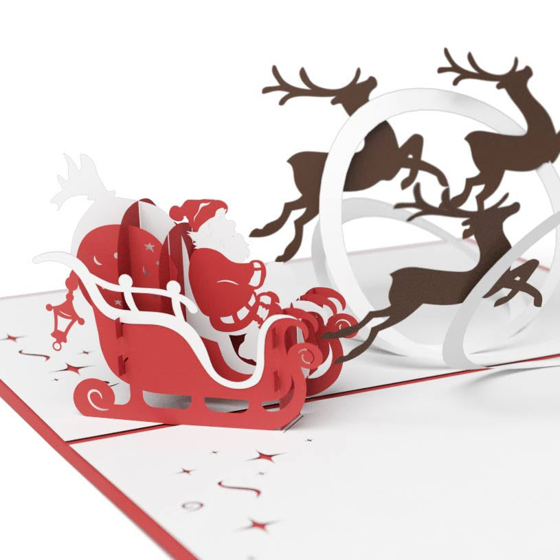 Santa Sleigh Card Image