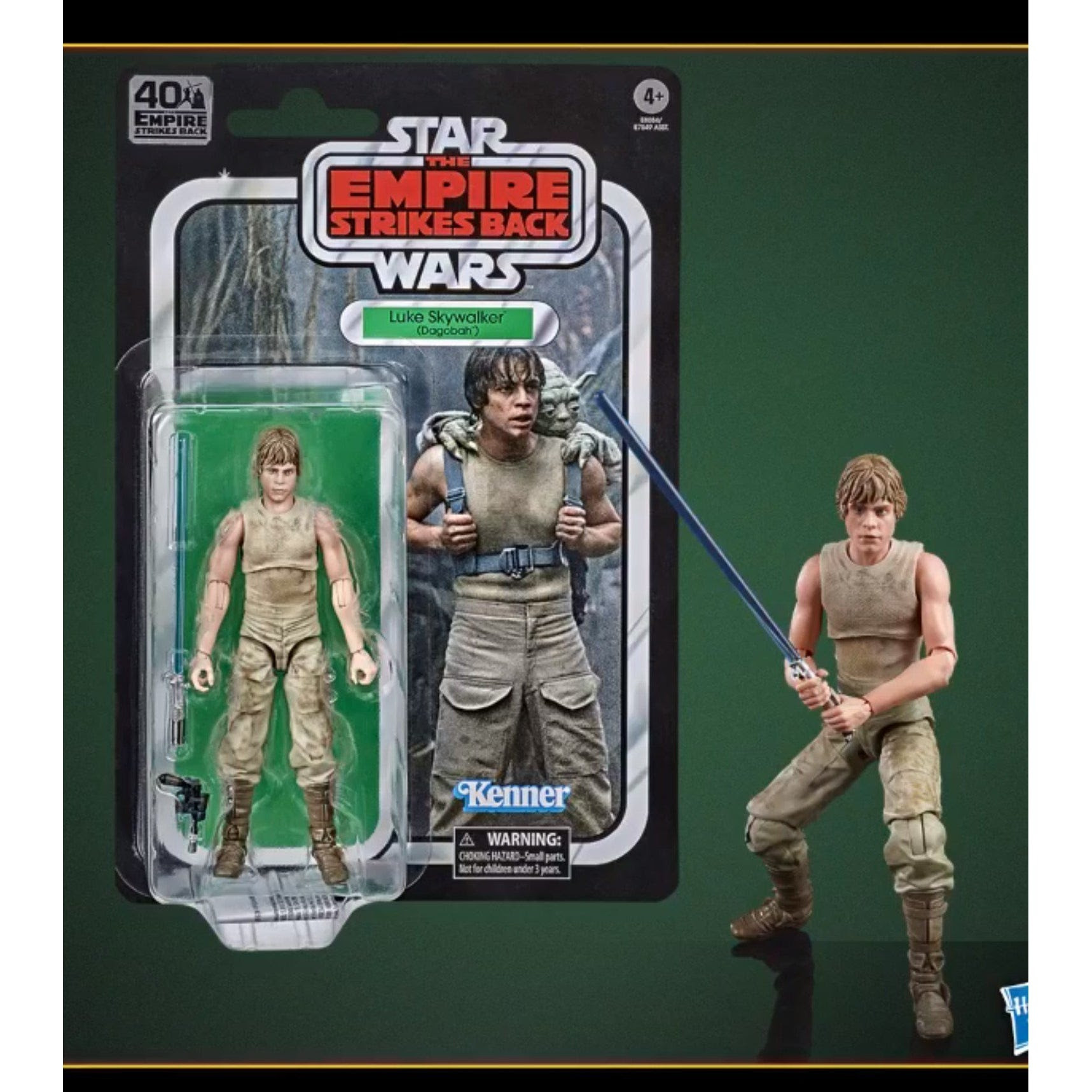 Image of Star Wars The Black Series Empire Strikes Back 40th Anniversary 6-Inch Luke Skywalker Dagobah Action Figure