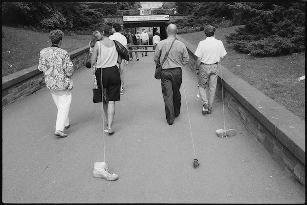 Allan Kaprow, Taking a Shoe for a Walk, 1989 Activity. Photo: Wolfgang Traeger. Courtesy of Wolfgang Traeger. Copyright / All Rights Reserved by Wolfgang Traeger, Germany.