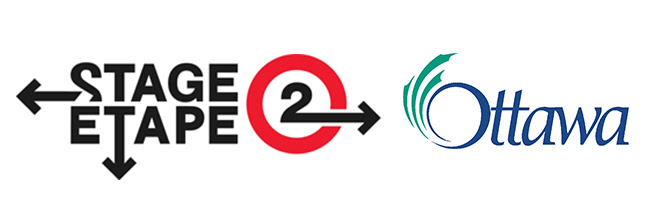 Stage 2 logo for LRT and City of Ottawa logo