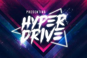 HYPER DRIVE Font + Extras