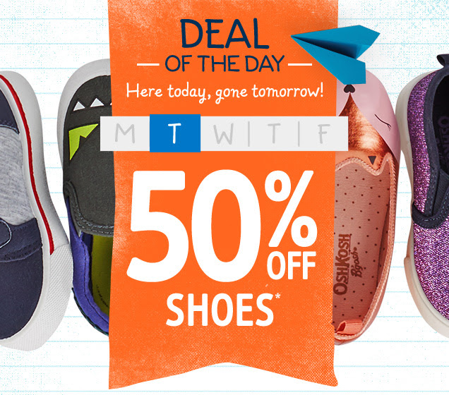 Today only: 50% off shoes at O...