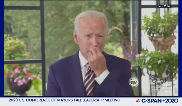 Pic of Biden rubbing nose