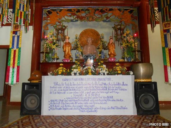 Linh đài Huynh trưởng Lê Thị Tuyết Mai tại Tu viện Long Quang, Huế trong Lễ Cầu siêu Tưởng niệm ngày 25.5.2014 – Hình PTTPGQT