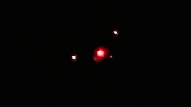 Triangle UFO Filmed by Florida Cop!  Hit With Cruiser Spotlight!
