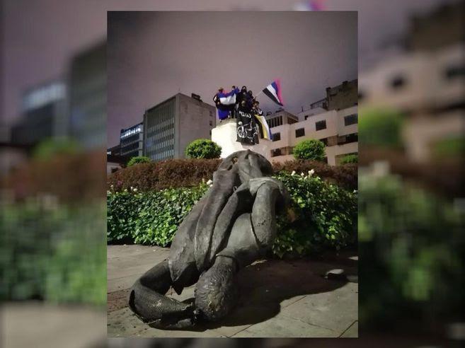 Monumento Gonzalo Jiménez de Quesada, fundador de Bogotá.