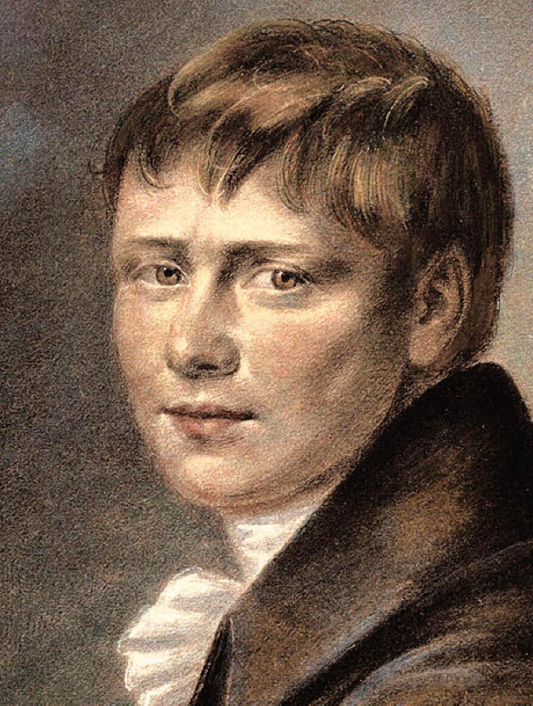 Heinrich von Kleist in einer Kreidezeichnung von 1801 | Foto: Korbel ...
