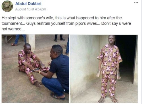 See What Happened To This Man After He Slept With Someones Wife