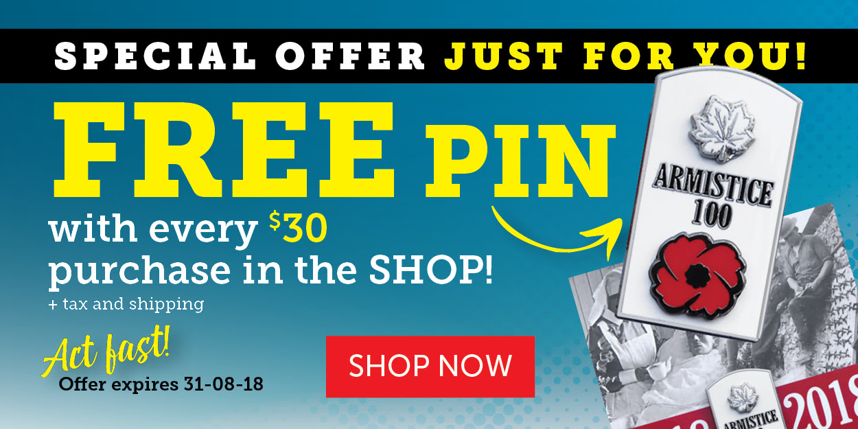 Get a FREE PIN with your next purchase!