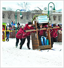 Fur Rondy Outhouse Races