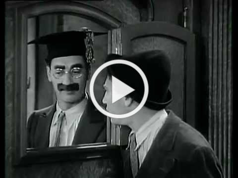 Marx Brothers - Password Scene - Horse Feathers - Chico and Groucho