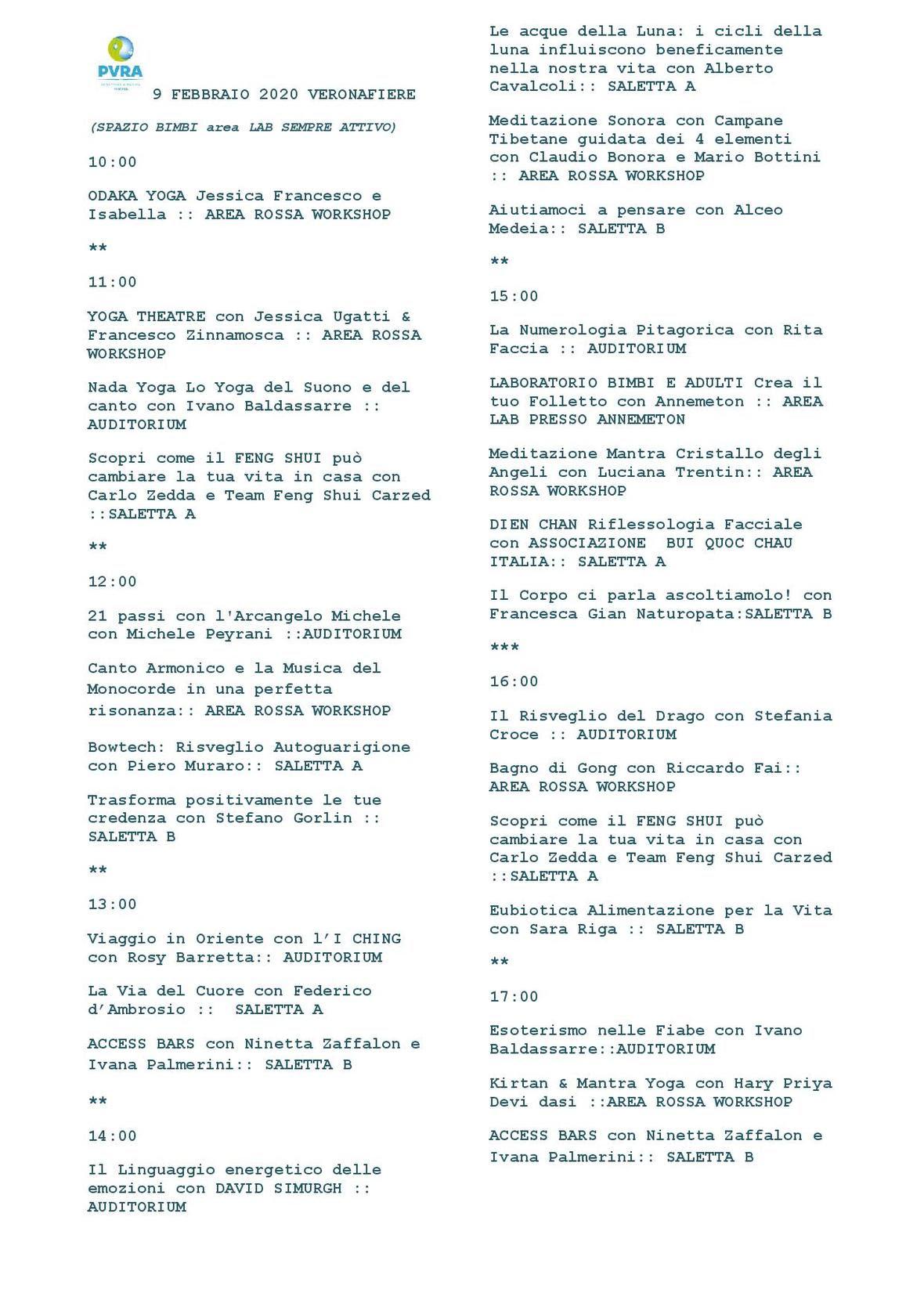 9 FEBBRAIO 2020 VERONAFIERE PROGRAMMA COMPLETO-page-001 1