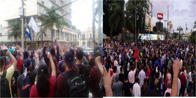 Gobierno de JOH reprime con fuerza brutal a protestantes que demandan su salida