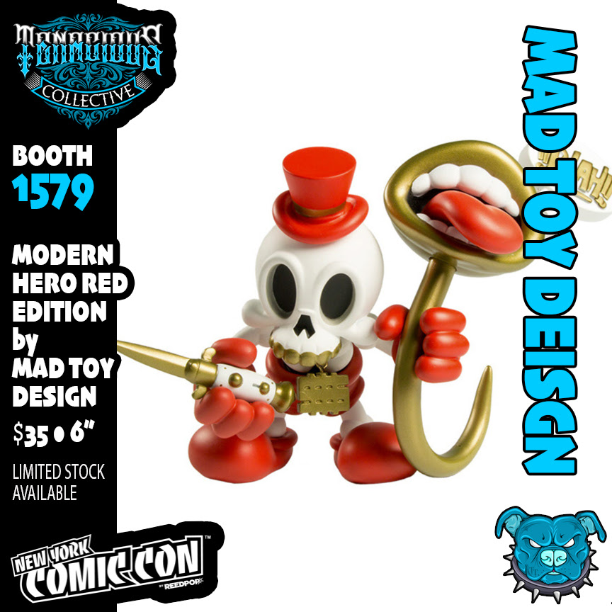 NYCC 2021 flyer Product modern hero red