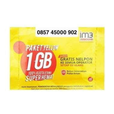 Indosat Nomor Cantik IM3 0857 45000 902 Kartu Perdana Pluang [4G LTE]