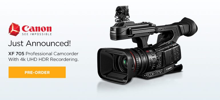 XF 705 Professional Camcorder WITH 4k UHD HDR Recordering