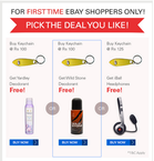 Shop for Rs 100 and get an exciting gift.  ( Valid for new users)