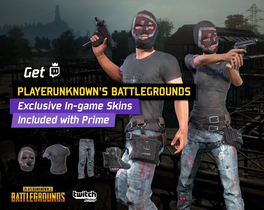 PLAYERUNKNOWN'S BATTLEGROUNDS Exclusive New Skins for Twitch