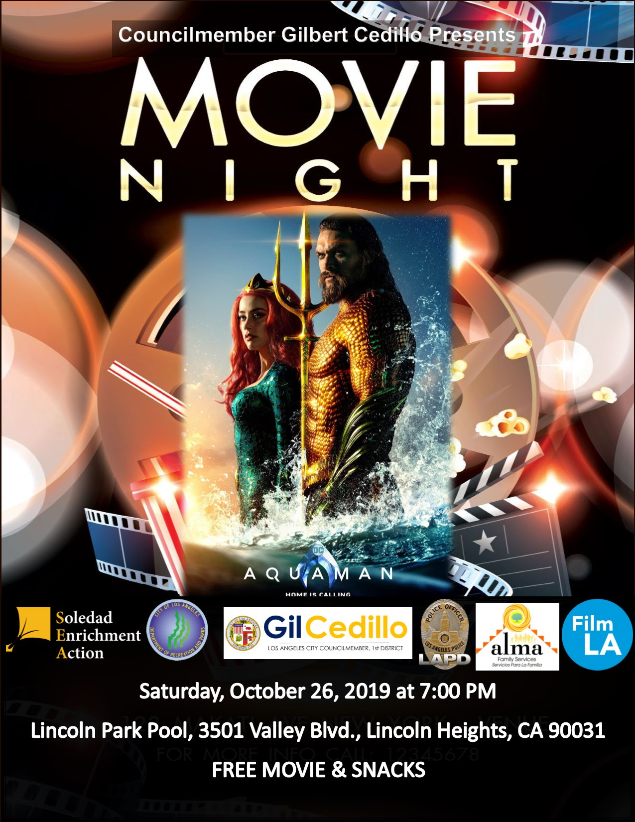 AquaMan Movie Night 10-26-19