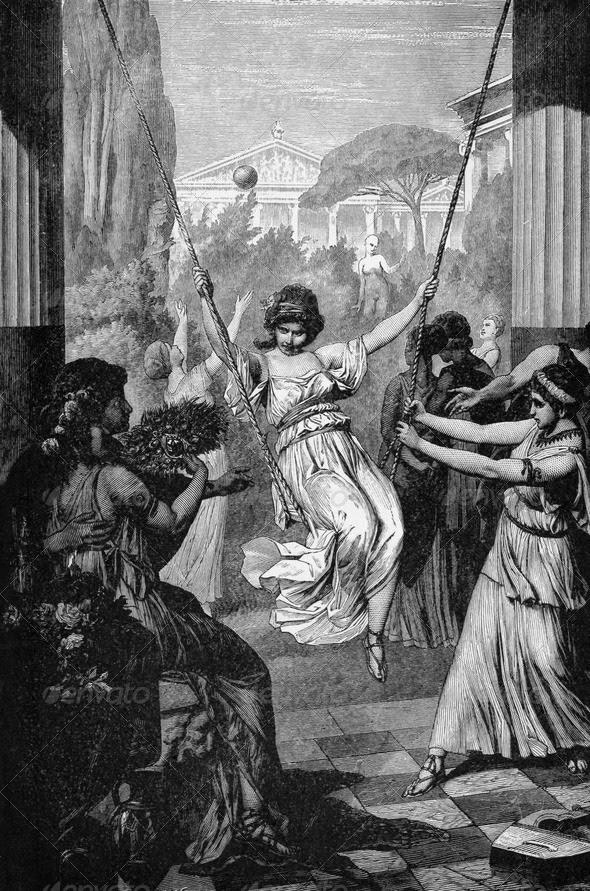 Αθλητισμός της Αρχαίας Ελληνικής Κορίτσια