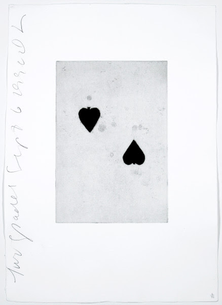 Donald Sultan Two Spades 1990, 1990