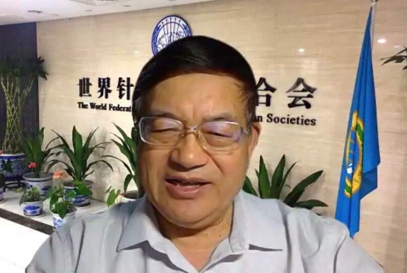 Videoconferência China Brasil - presidente da WFAS, Lyu Baoyan
