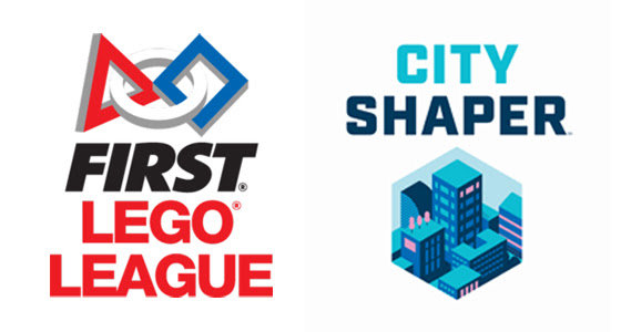 First Lego League and City Shaper logo