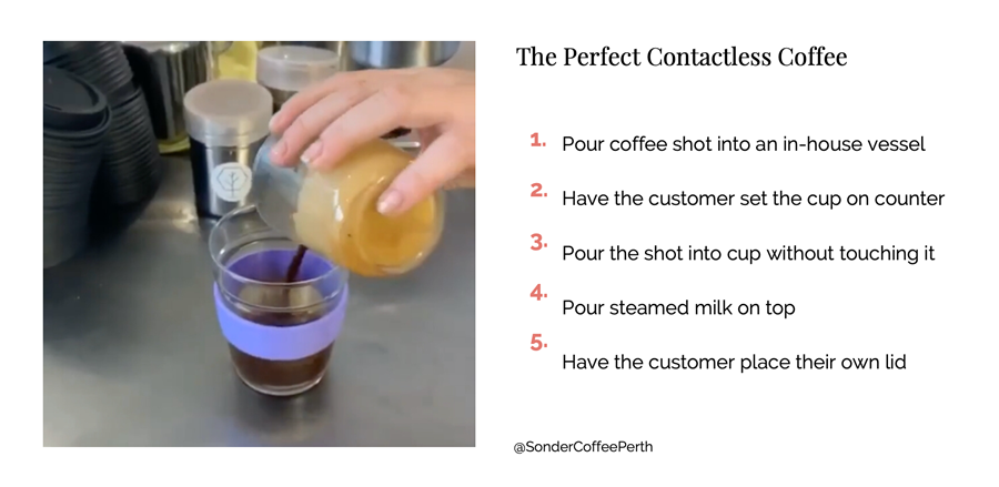 The Perfect Contactless Coffee - Steps
