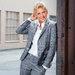 Portrait of Ellen DeGeneres taken at Warner Bros. Studios.