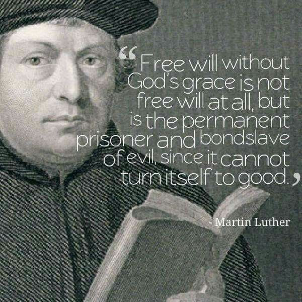 Martin Luther Quote - Bondage Of the Will Against Free Will
