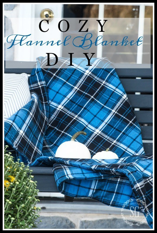 Stonegable blog- flannel blanket tutorial
