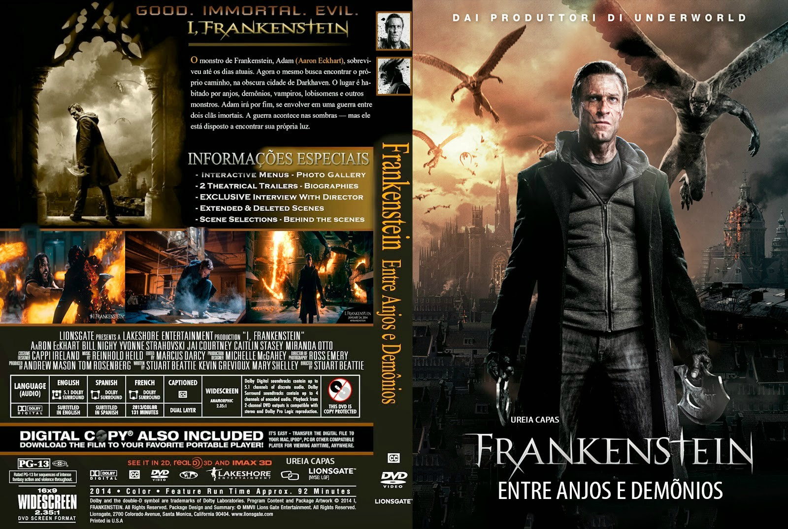 0zWWoYQ Frankenstein   Entre Anjos E Demônios (I, Frankenstein) Torrent   BluRay Rip 1080p Legendado 5.1 (2014)