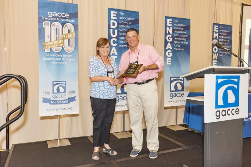 Chamber President Jan Hackett at gacce