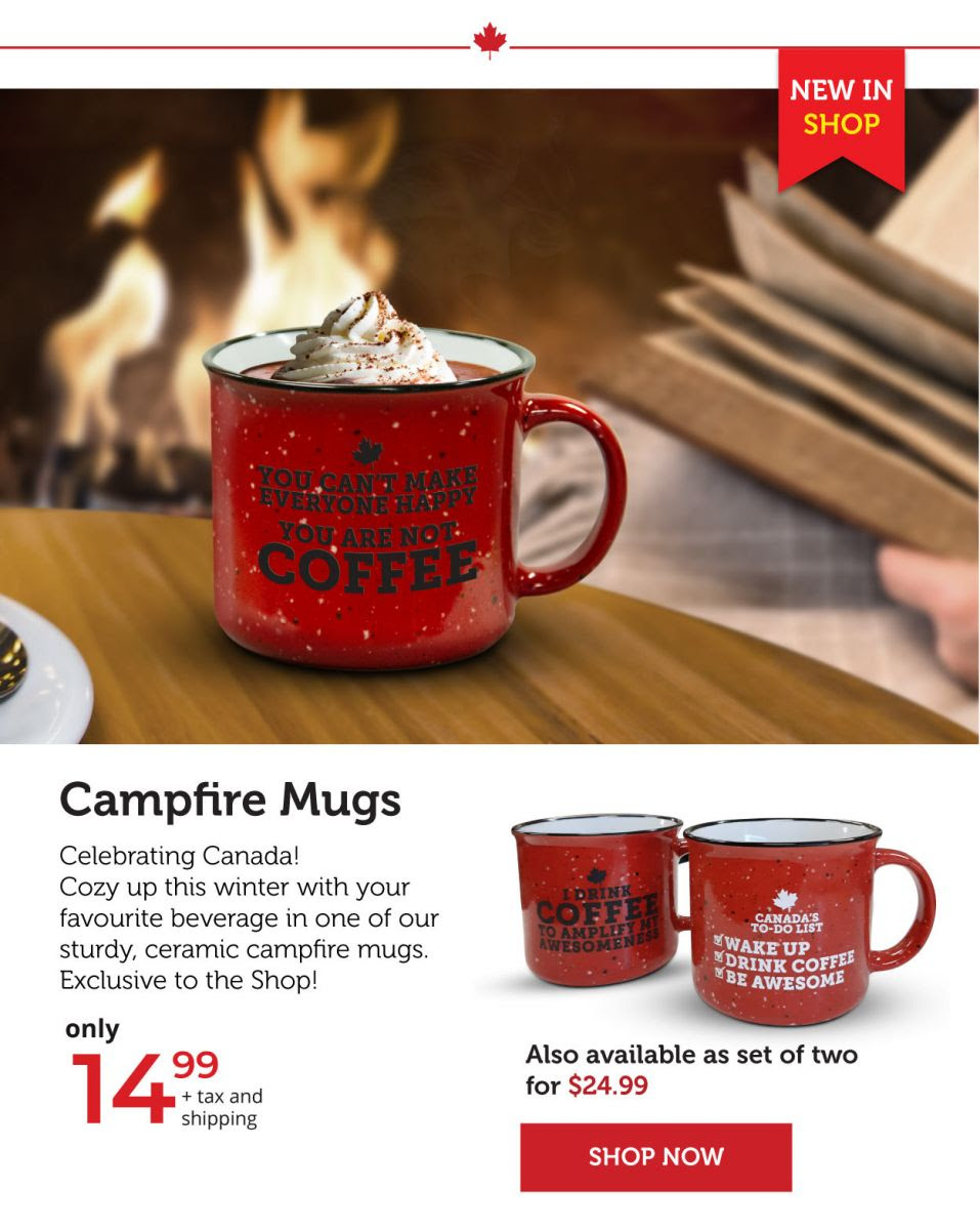 Campfire Mugs - New in stock!