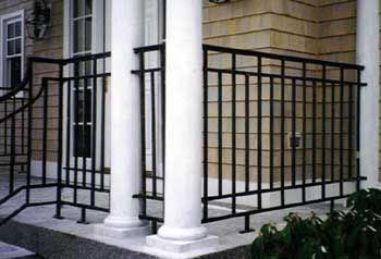 Example of using wrought iron without finials