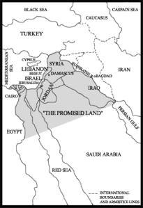 Israeli plan for Middle- east, map