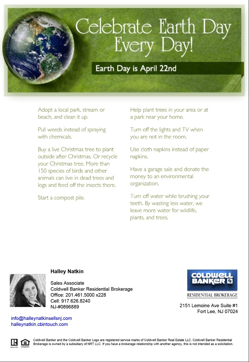 Celebrate Earth Day every day!